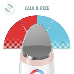 Dispozitiv tratament facial Homedics, Ilumi Facial Hot and Cold, autonomie 80 min, Alb