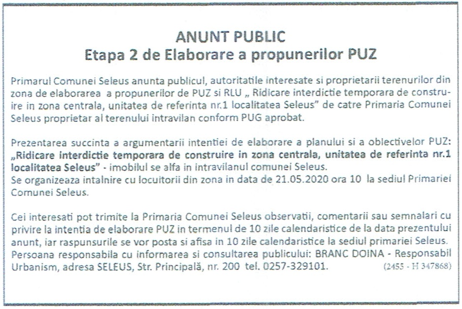 UAT comuna Bozioru | Planul de pregatire